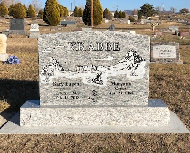 Krabbe Upright Tablet Monument