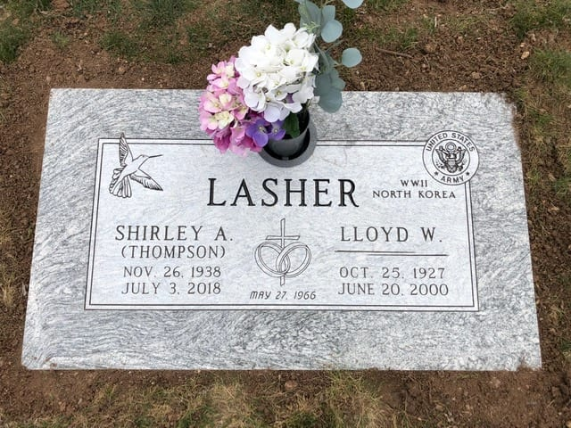 Lasher Flat Gravestone