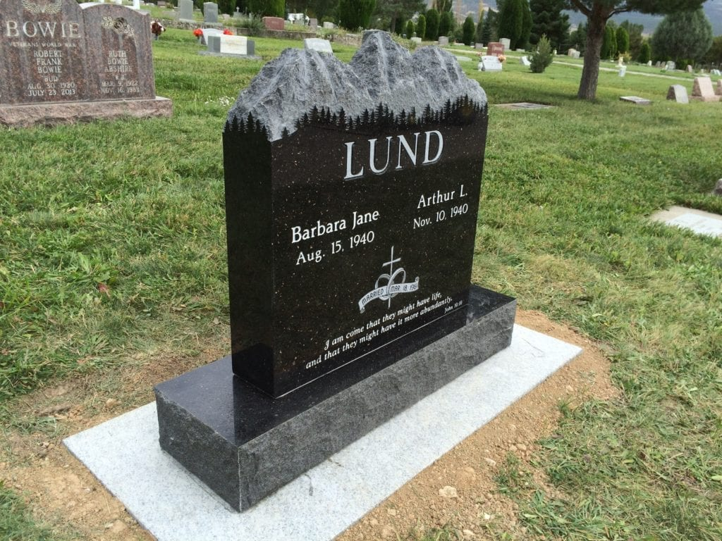 Lund Mountain Top Upright Monument