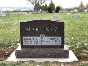Martinez Upright Tablet Monument