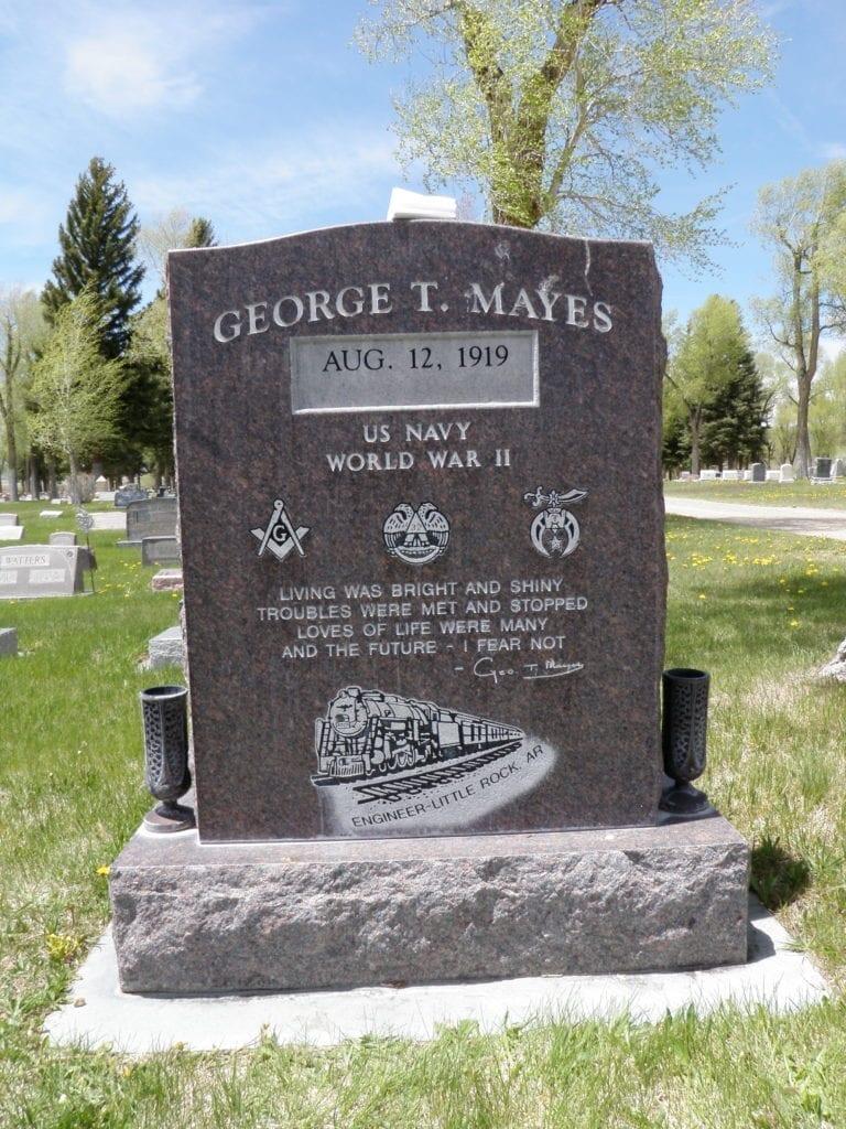 Mayes Tablet gravestone