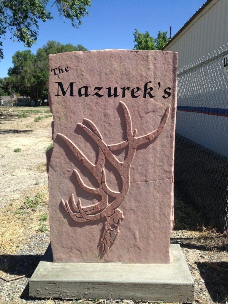 Mazureks Residence Address Sign