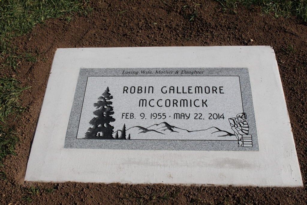 McCormick Flat Gravestone