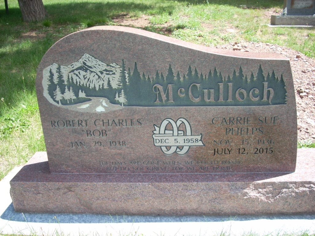 McCulloch Upright Tablet Monument
