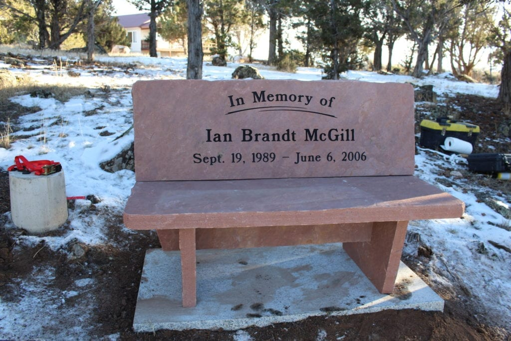 McGill Personalized Bench memorial