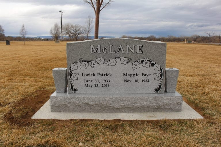 McLane Upright Tablet Monument