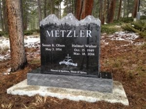 Metzler Mountain Top Upright Monument