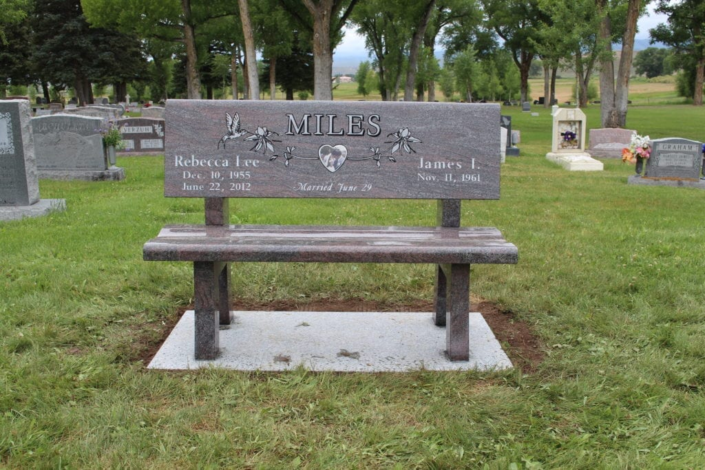 Miles Family Bench Memorial - Front