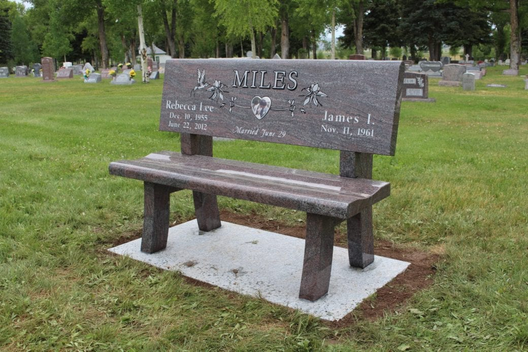 Miles Family Bench Memorial - Side View