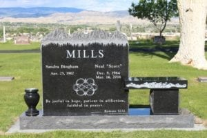 Mills Family Bench Memorial Upright