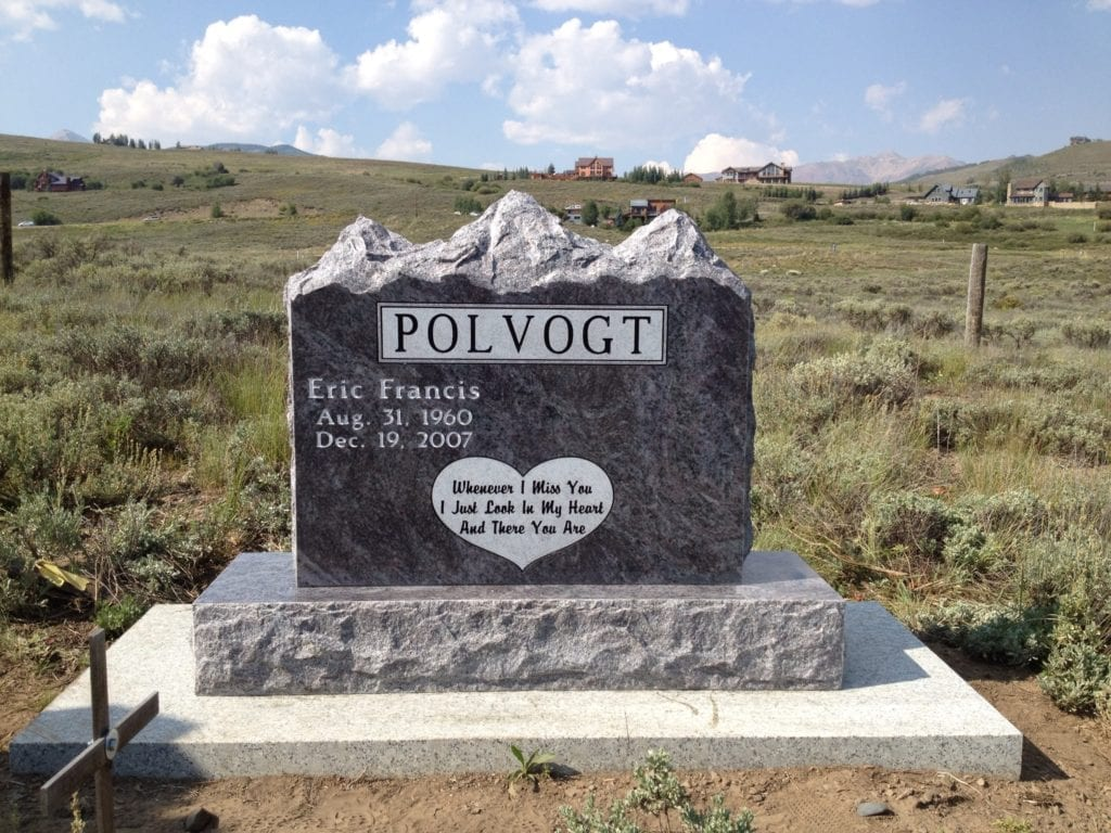 Polvogt Mountain Top Upright Monument
