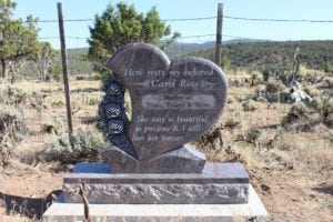 Rinehart Heart Upright Monument For One Person