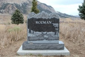 Rozman Mountain Top Upright Monument