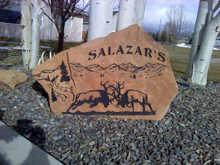 Salazar's Commercial Stone Sign