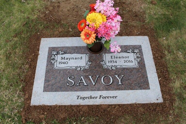 Savoy Flat Gravestone