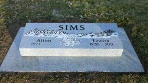 Sims Companion Bevel Grave Marker