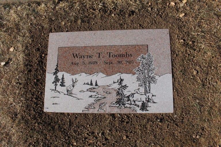 Toombs Flat Gravestone