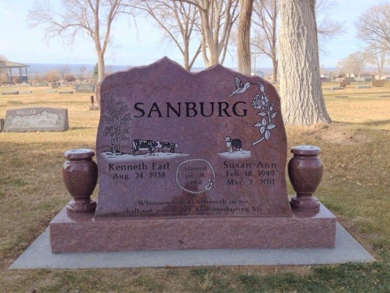 Sandburg Tablet Upright Memorial