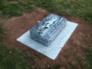 McMullen Bevel Grave Marker
