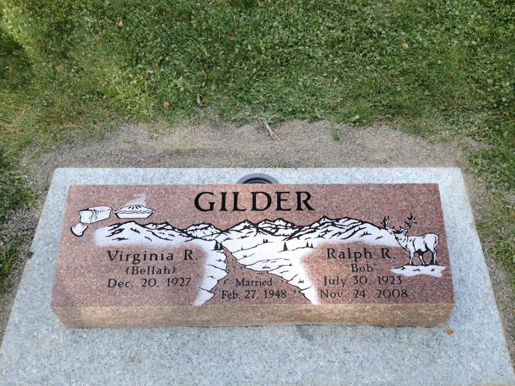 Gilder Family Bevel Grave Marker