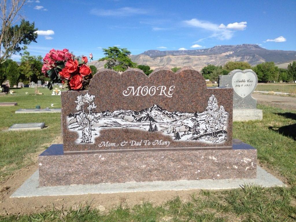 Moore Companion memorial Upright