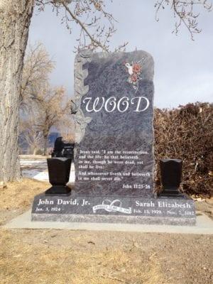 Wood Tablet Gravestone